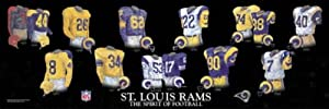 Framed Evolution History St. Louis Rams Uniforms Print by The Greatest-Scapes