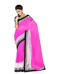 De Marca Pink Art Silk Designer G-339 Saree