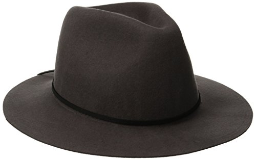 Brixton Men's Wesley Fedora Hat, Grey, Small