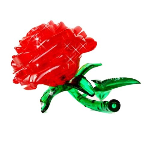 Original 3D Crystal Puzzle - Rose Red - 1