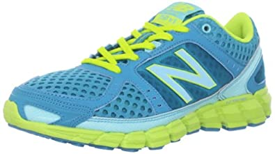 New Balance Women's W750 Athletic Running Shoe,Blue/Green,5 B US