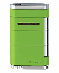 XiKAR Allume Single Torch Flame Cigar and Cigarette Lighter Citrus Green Lifetime Warranty