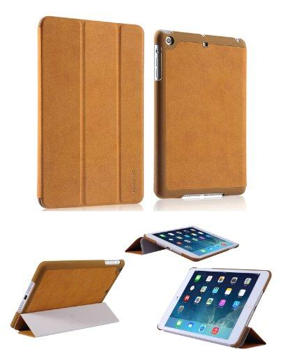 Smart Tech(Tm) Basues Case For Apple Ipad Mini/Ipad Mini Retina Ultra Slim Lightweight With Smart Cover Auto Wake / Sleep (Jianyue Case-Brown)