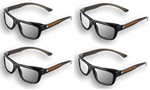 4 pairs - Adult Passive 3D Glasses Genuine eDimensional Sealed RealD Compatible Circular Polarized 3D Glasses for Passive 3D TV's Televisions from SONY, Panasonic, Vizio, Toshiba, LG, Philips and JVC and for use in Real-D Theaters by eDimensional