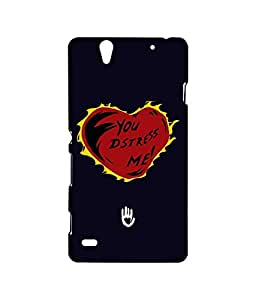 KR Navy Burning Heart - Sublime Case for Sony Xperia C4