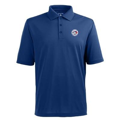 MLB Men's Toronto Blue Jays Pique Xtra Lite Desert Dry Polo