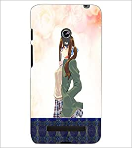 PrintDhaba Cute Girl D-4980 Back Case Cover for ASUS ZENFONE 5 A501CG (Multi-Coloured)