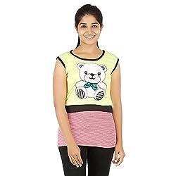Knit Abc Garments Women's Character Top(KA-WTOP-DY-04-RD-YL-M_Multicolor_Medium)