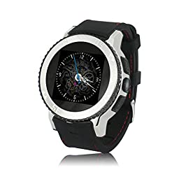 Zgpax S7 Smart Phone Watch Silicone 1.54 Inch 3g Android 4.4 Mtk6572 Dual Core Phone Watch 2.0mp Camera Wcdma GSM Smart Watch with Email GPS Wifi WAP