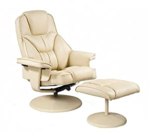Relax at Eeze Milano Swivel Reclining Recliner Chair with Footstool