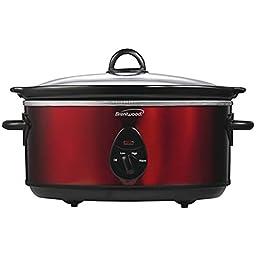 BRENTWOOD SC-150R 6.5 Quart Slow Cooker (Red) Home, garden & living