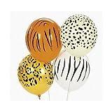 50 Animal Print Balloons - Tiger, Cheetah, Leapord, Zebra