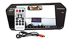 Woodman Car 7 inch LED screen video monitor with USB&Bluetooth (Black) and car rearview camera Black LED (18 cm)