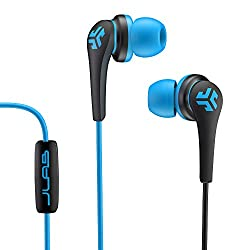 JLab Core Hi-Fi Noise Isolating earbuds with Mic and Cush Fin Technology (Blue/Black)