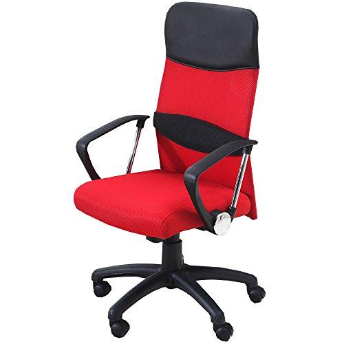 UNE BONNE(ウネボネ) オフィスチェア 椅子 ロッキング メッシュ (椅子) ガス圧昇降式W型-レッド