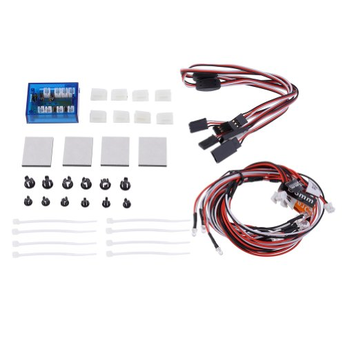Neewer® New No Solder Realistic 12 Led Lighting Flashing Head Light Kit For Rc Cars And Trucks