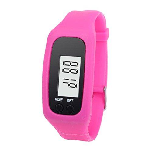 Xinantime LCD Digitale Orologio da Polso Sportivo Contapassi Colore Rosa Donnao