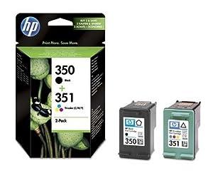 HP Druckerpatrone 350/351 Schwarz und Farbe (Cyan, Magenta, Gelb)