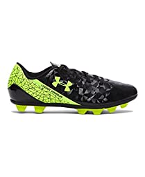 Under Armour Kids\' UA SF Flash HG Jr. Soccer Cleats 12K Black