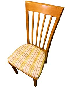 Dining Chair Pad With Ties Brodie Yellow