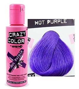 Crazy Colour Hot Purple 100ml Semi Permenant Hair Dye