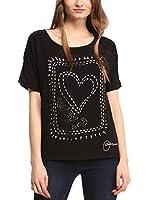 Desigual Camiseta Manga Corta Raquel (Negro)