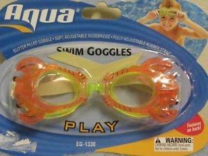 Dolfino Child Glitter Swim Goggles - Lobster - 1