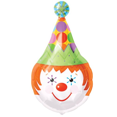 Party Destination 202652 Clown Shaped Foil Balloon
