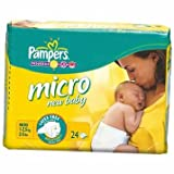 Active Pampers New Baby Nappies Micro Size 0 (24pk) - Cleva Edition ChildSAFE Door Stopz Bundle