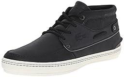 Lacoste Men\'s Meyssac Deck Fashion Sneaker, Black/Grey, 11 M US