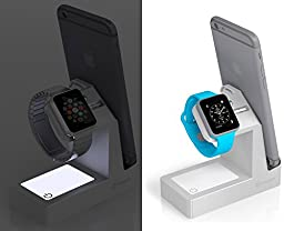 Basecamp Apple Watch Charger Dock, 3 Charging USB Ports and Nightlight, iPhone and iWatch Stand Holder, Apple Watch 2 Docking Station