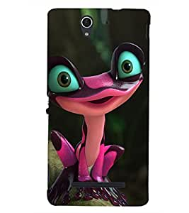 PRINTSHOPPII FEMALE CRAZY FROG Back Case Cover for Sony Xperia C3 Dual D2502::Sony Xperia C3 D2533