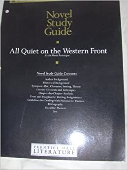 An analysis of the novel all quiet on the western front