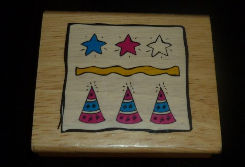 Birthday Party Celebration Rubber Stamp - 1