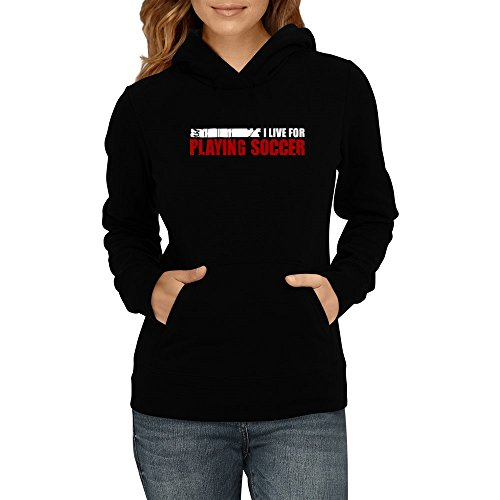 Idakoos - I LIVE FOR Soccer - Sports - Women Hoodie (Fall At Your Feet Live compare prices)