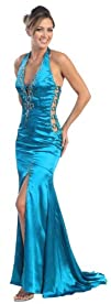 Prom Dress New JR Long Tail Back Gown 2582
