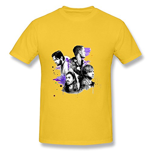 Lule'X Imagine Dragons Boys Tee Shirts,Yellow Cotton T-Shirts Xx-Large