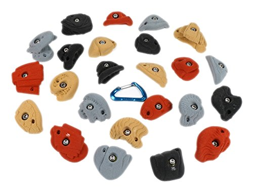 24 Real Rocks l Climbing Holds l Mixed Earth Tones