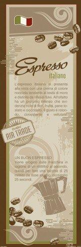 Coffee Poster Adhesive Photo Wall-Print - Espresso Italiano, In Italian (98 x 31 inches)