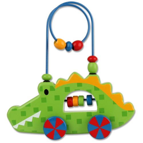 Stephen Joseph Alligator Rolling Wire and Bead Toy
