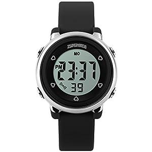 Panegy Outdoor Boys Girls Students Sport Cool Digital Sport LED Quartz Alarm Stopwatch Chronograph Wrist Watch