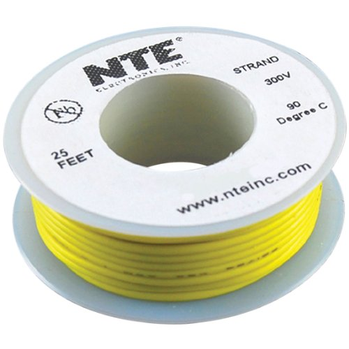 Nte Stranded 26 Awg Hook-Up Wire Yellow 25 Ft.