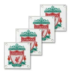 Liverpool F.C. Glass Coasters by Absolute Footy