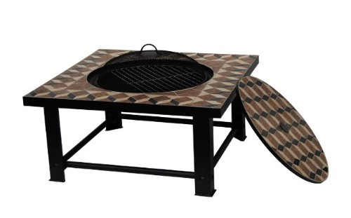 Palermo Mosaic Firepit, BBQ  &  Table