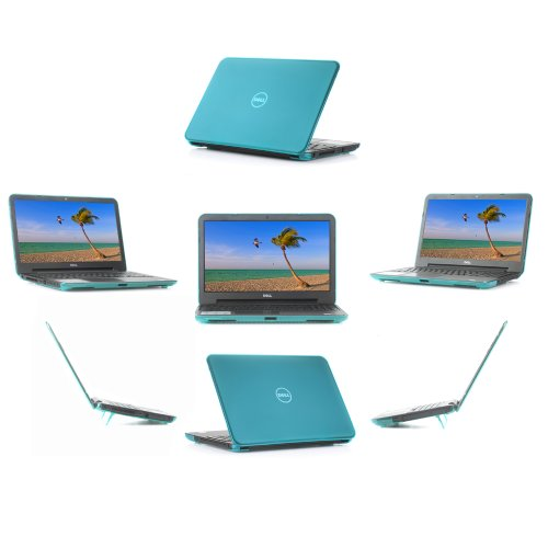 iPearl mCover HARD Shell CASE for 15 inches Dell Inspiron 15 (3521 / 3527) and 15R (5521 / 5537) Laptop - Aqua