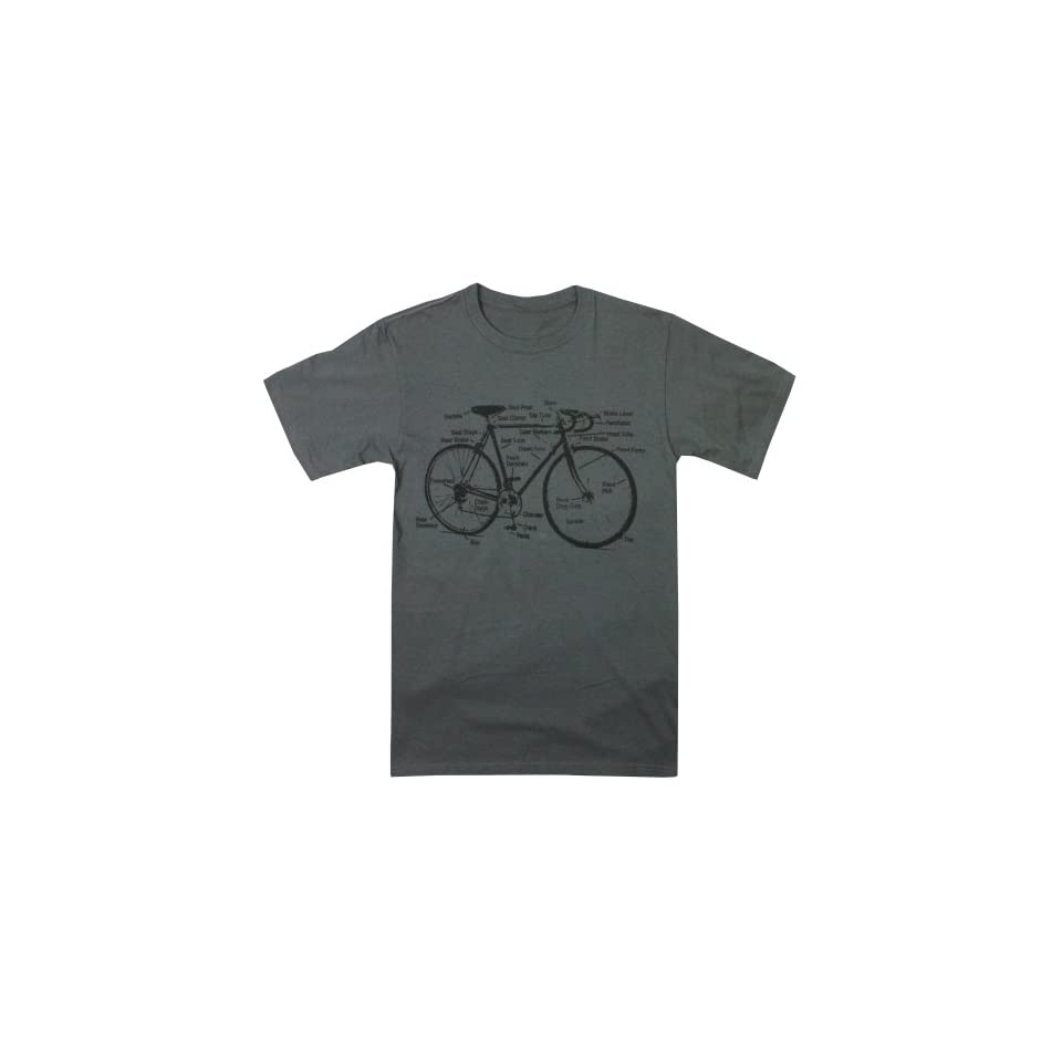 Happy Family Retro Racing Bike Diagram Mens T Shirt