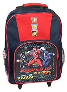 Disney Power Rangers Rpm Wheeled Bag, Front Pocket, Side Mesh Pockets, Zipped by Trade Mark Collections