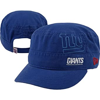 NFL New York Giants Goal-2-Go Ladies Military Cap, Blue, One Size Fits All by New Era