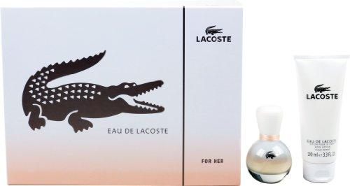 Lacoste for Her Geschenkset - Eau de Toilette, 30 ml, Body Lotion, 50 ml plus Duschgel, 50 ml, 1er Pack (1 x 2 Stück)