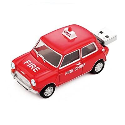 8GB FIRE CHIEF Mini Cooper USB Flash Memory Drive by JellyFlash